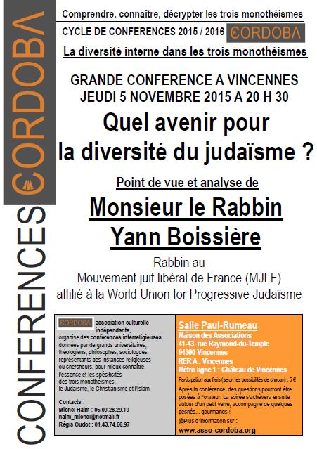 Par M. le Rabbin Yann Boissière